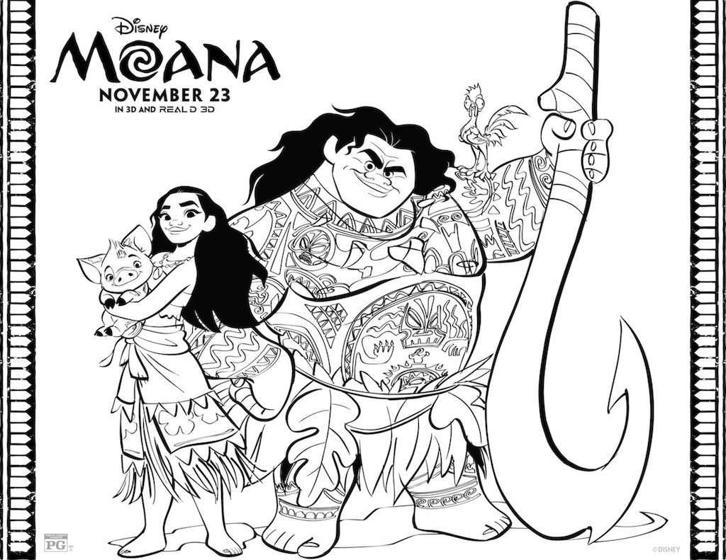 Free Printable Moana Coloring And Activity Sheets Ethan S 4th