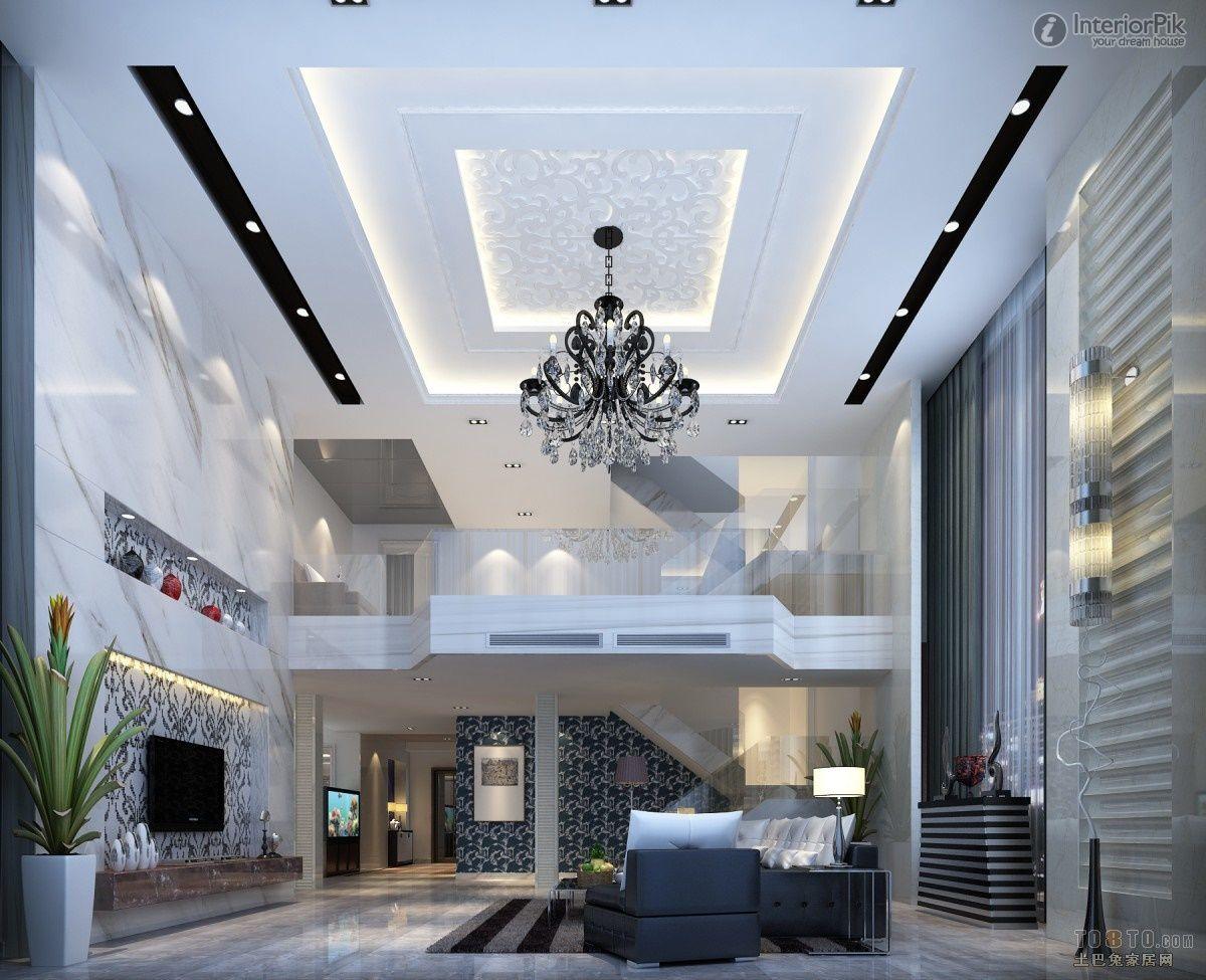 Modern Living Room Ceiling Decoration  Interior Design
