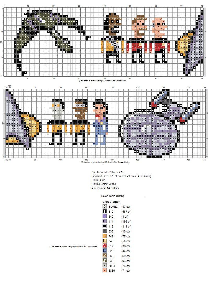 Chart for the Star Trek towel by ~starrley on deviantART | Cross ...