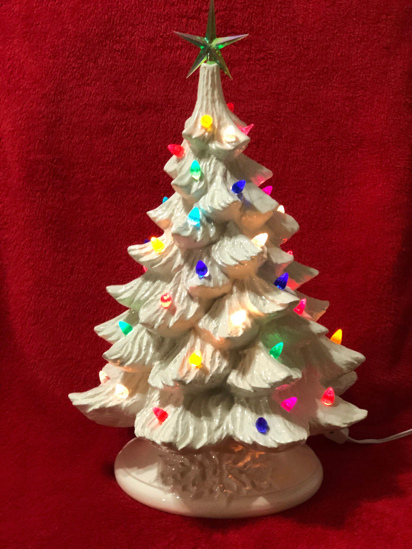 Milk Glass Glazed Ceramic Christmas Tree Etsy In 2020 Ceramic Christmas Trees Vintage Ceramic Christmas Tree Christmas Tree Shop
