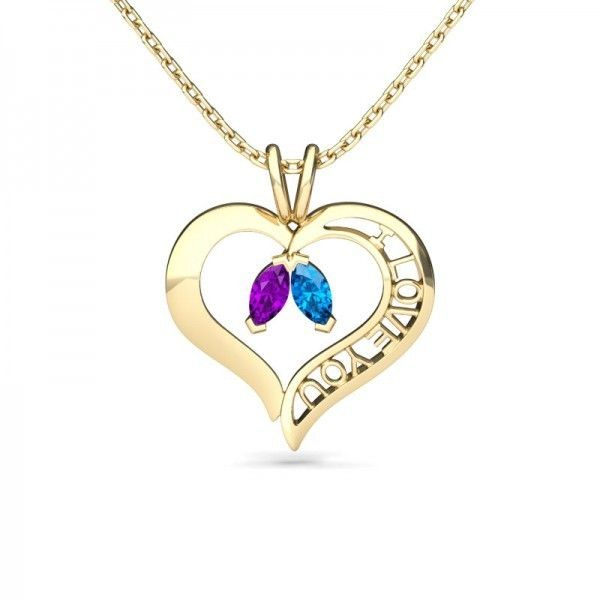 Jeulia Design Yellow Gold Heart Shape Marquise Cut Amethyst &... (120 CAD) ❤ liked on Polyvore featuring jewelry, necklaces, amethyst gold necklace, yellow gold necklace, aquamarine heart necklace, yellow gold heart necklace and amethyst heart necklace