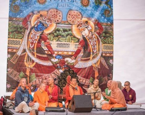 Celebrating Balarama Purnima (Album with photos)  Balarama Purnima celebration in Baltic Summer Festival in Lithuania with many wonderful Godbrot…