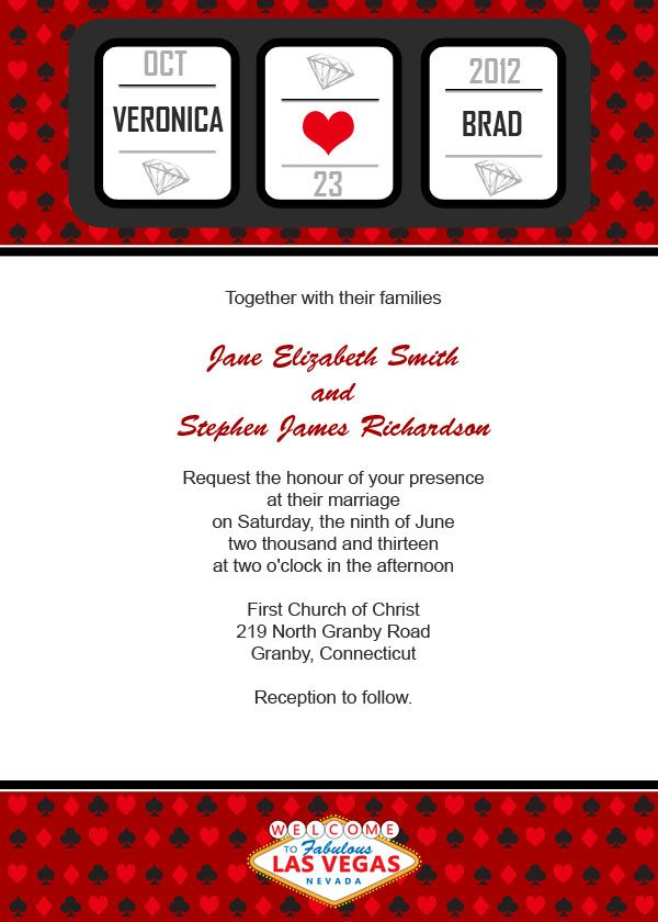 Vegas Wedding Invitation Ideas Same Font As Fabulous In - Party invitation template: casino theme party invitations template free