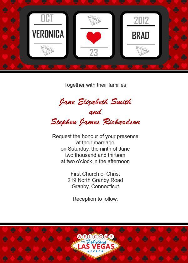 Vegas Wedding Invitation Ideas