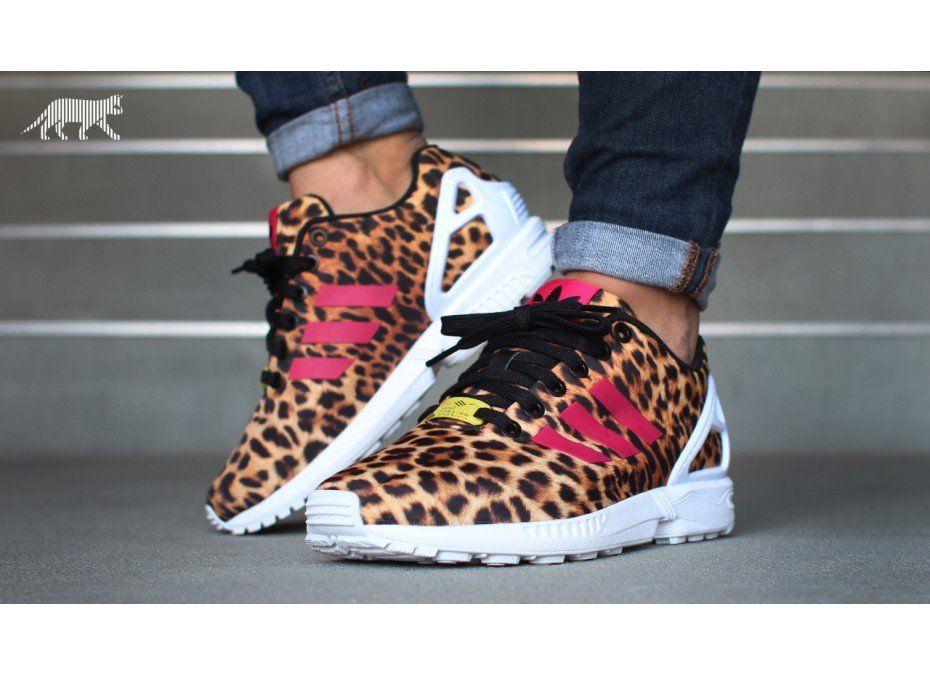 adidas ZX FLUX W *leopard* (Black / Vivid Bery