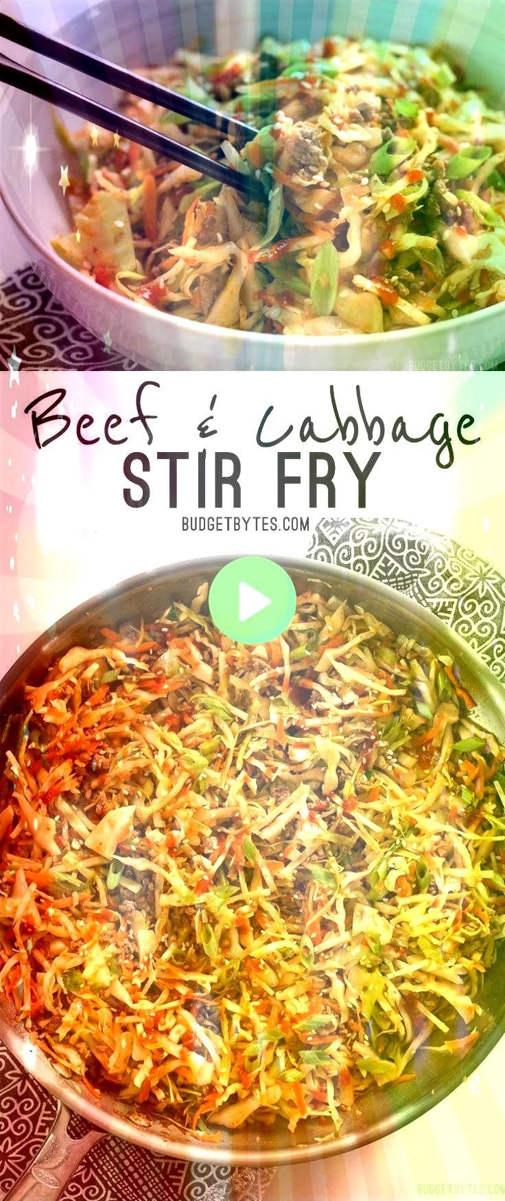 fast and easy Beef and Cabbage Stir Fry is a filling low carb dinner with big flavorThis fast and easy Beef and Cabbage Stir Fry is a filling low carb dinner with big fla...