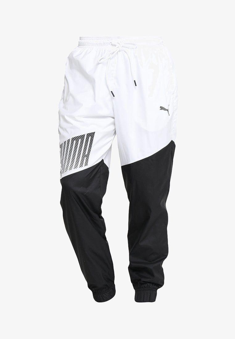 Puma A C E Trackster Jogginghose White Black Zalando De Sweatpants Pants Tracksuit