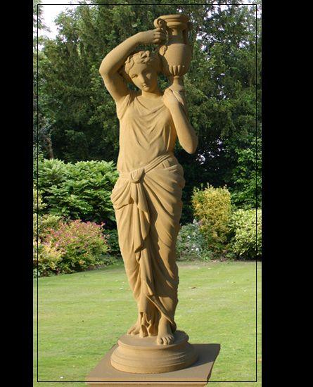 Stone Garden Statue Girl Make Your Garden Beautiful With Garden Decor