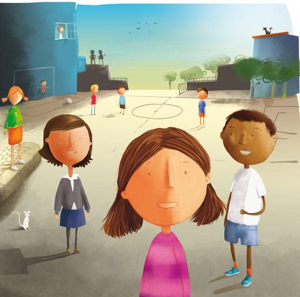 "by Ricardo Machado. www.ricardomachado.pt 3.Children's book illustration. ""Eu hoje faco anos""."