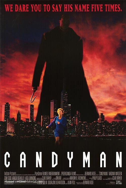 Candyman Poster, 1992 | Horror/Grindhouse/Troma/Scream
