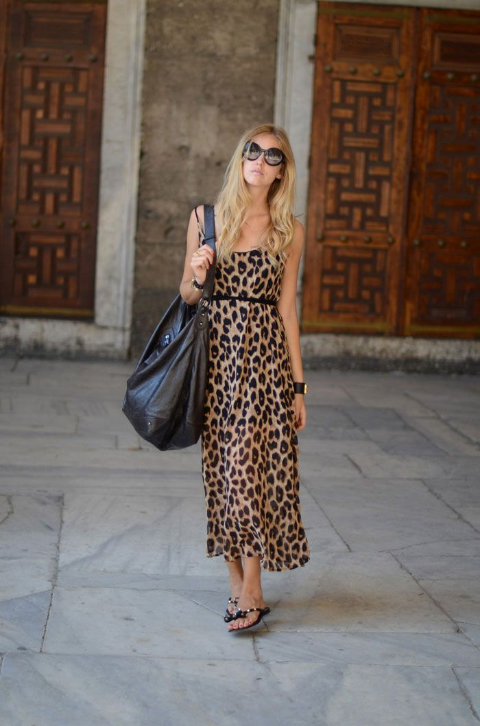 6f0d5a2345 ... the leopard print is one of the most popular print patterns in women s  fashion. dress at maxi length