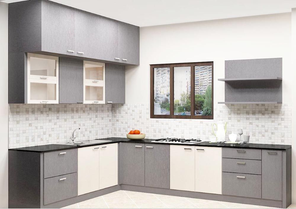 buy erica l  shaped kitchen with laminate finish online