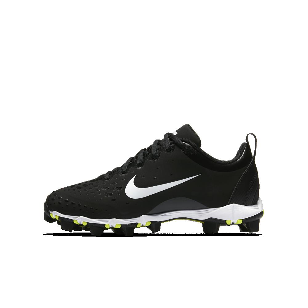 42ce1180ab494e Nike Hyperdiamond 2 Keystone Little Big Kids  Softball Cleat Size 4.5Y  (Black)