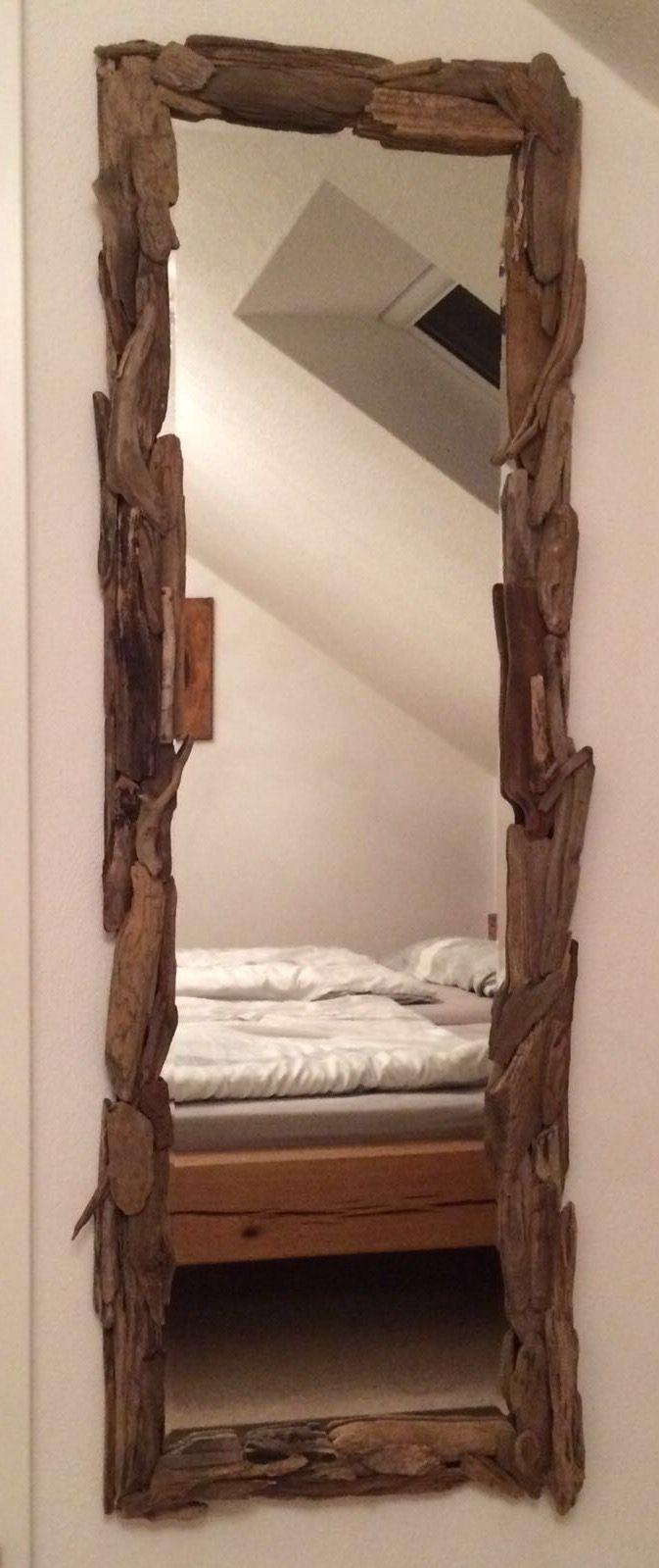 Wandspiegel mit Treibholz Rahmen | Dekoration DIY aus Treibholz ...