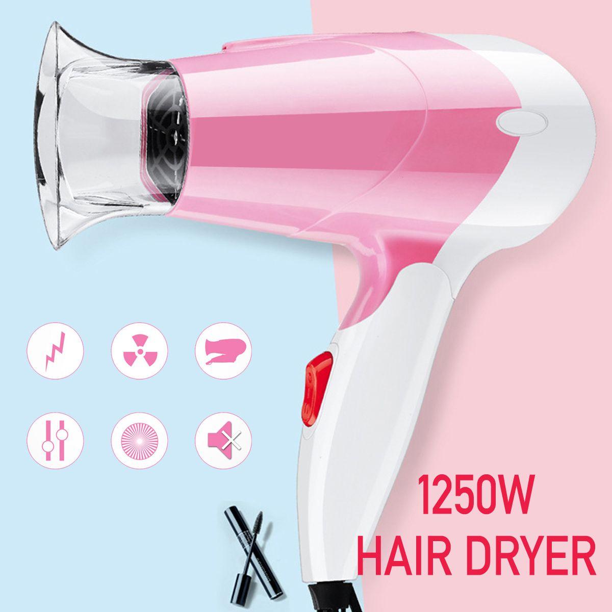 220v 1250w Mini Hairdressing Salon Hair Dryer Foldable Handle