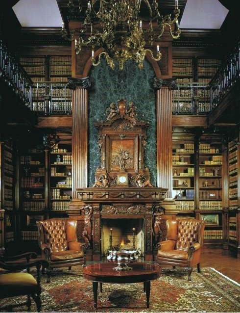 House  Reading Room Traditional Home Library