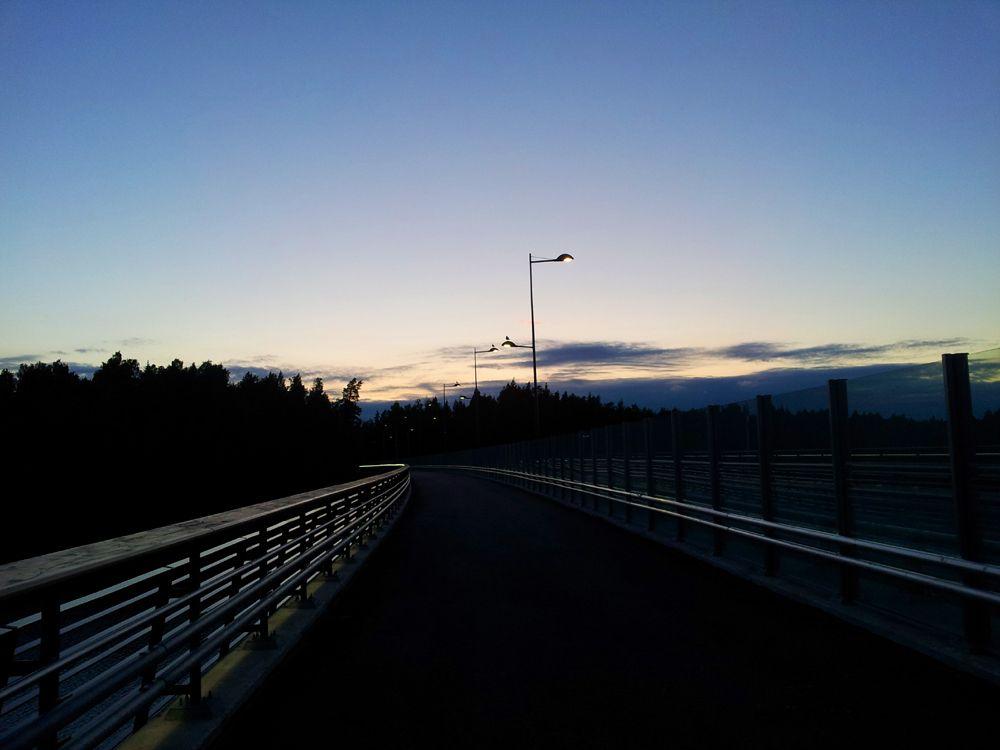 Midnight in Tampere on midsummer night.