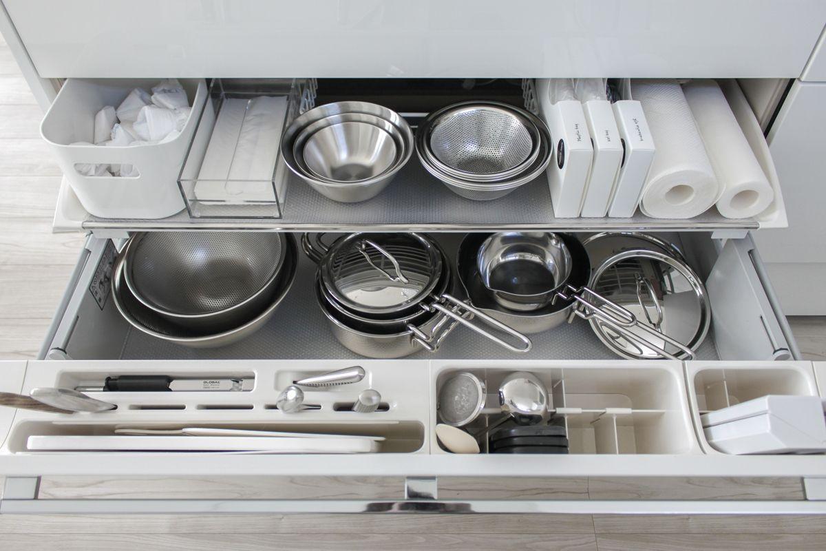 キッチン収納の全て 収納方法 スッキリ見える工夫と愛用品 まとめ 2019 キッチン シンク収納 台所 収納 引き出し