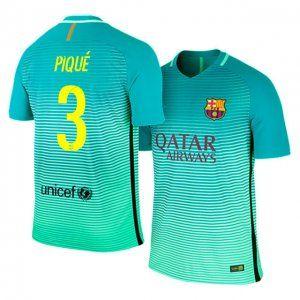 huge discount 61e89 8febf 16-17 Barcelona Third #3 Pique Sale Football Shirt [J00172 ...