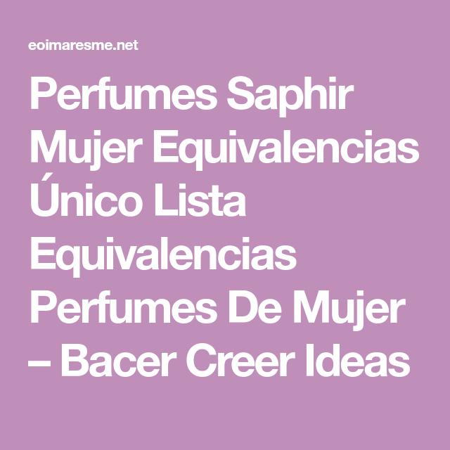 consejos perfumes saphir