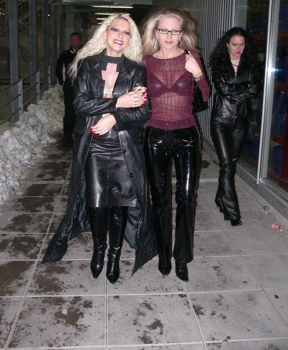 Lady, Long Leather Coat