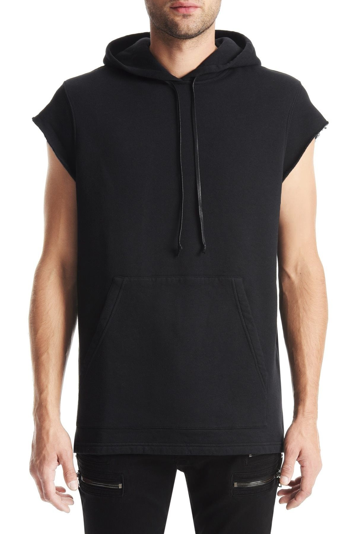HUDSON Sleeveless Pullover Hoodie - Black. #hudson #cloth ...