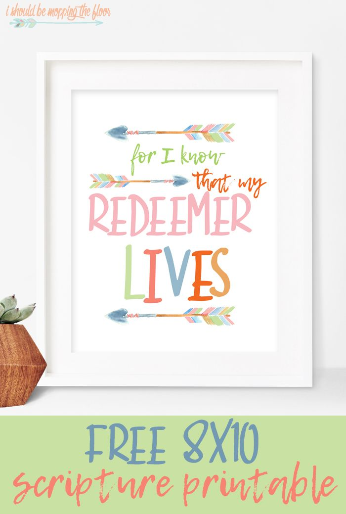 My Redeemer Lives Free Printable | Imprimibles