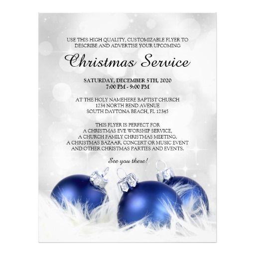 Church Christmas Service Flyer Templates Zazzle Com