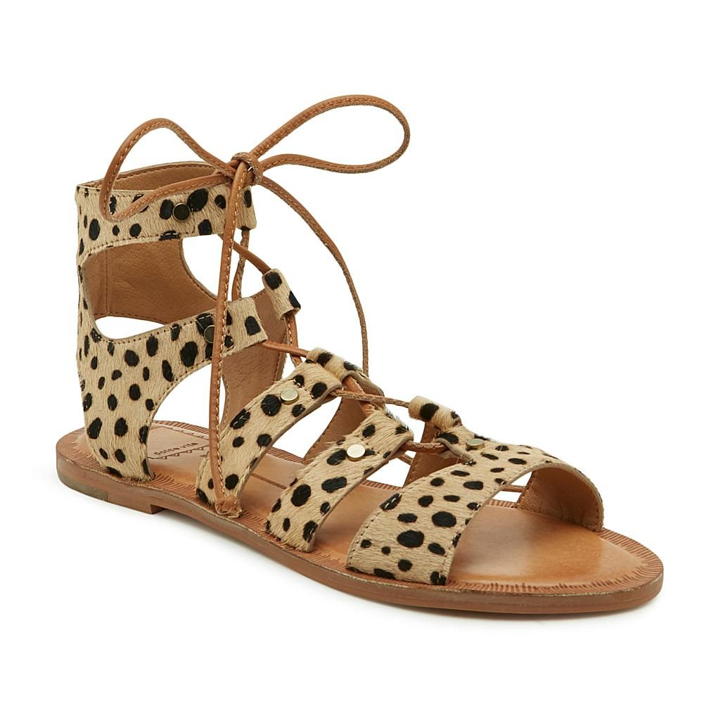 710ecfe97e87 Dolce Vita Jasmyn Leather Laced Gladiator Sandal - Animal | Products ...