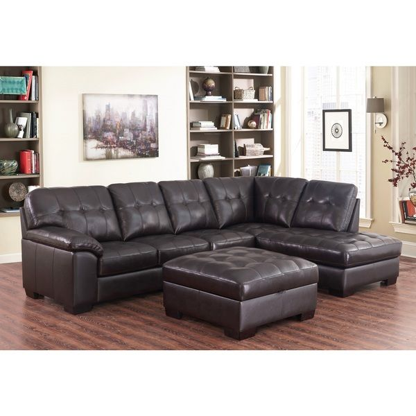 Overstock Com Online Shopping Bedding Furniture Electronics Jewelry Clothing More Abbyson Living Sectional Sofa Couch Top Grain Leather Sectional