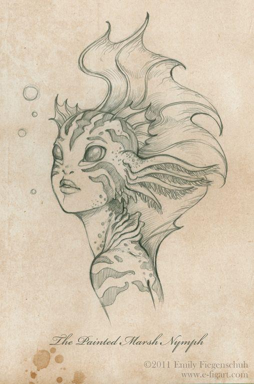 Image Associee Fantasy Tree Drawing Fantasy Drawings Mermaid Drawings