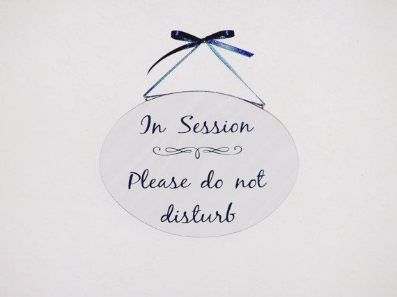In Session Sign Wood Office Decor Quiet Please Counseling