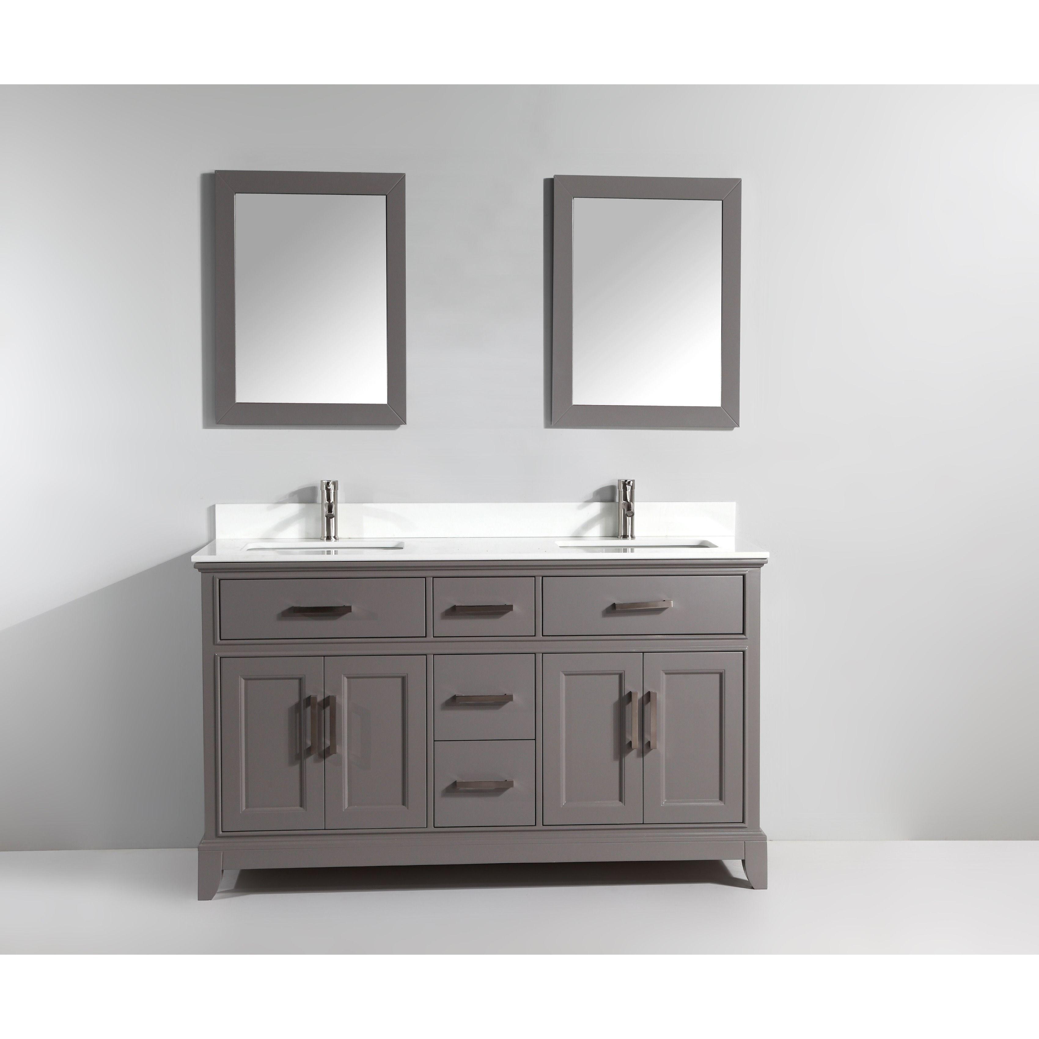 Vanity Art 72 Double Sink Bathroom Vanity Set Super White Phoenix
