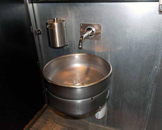 Re-purposed Keg Sink by LousWelding on Etsy