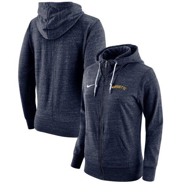 Marquette Golden Eagles Nike Women S Gym Vintage Full Zip Hoodie Navy Marquettegoldeneagles Hoodies Full Zip Hoodie Zip Hoodie