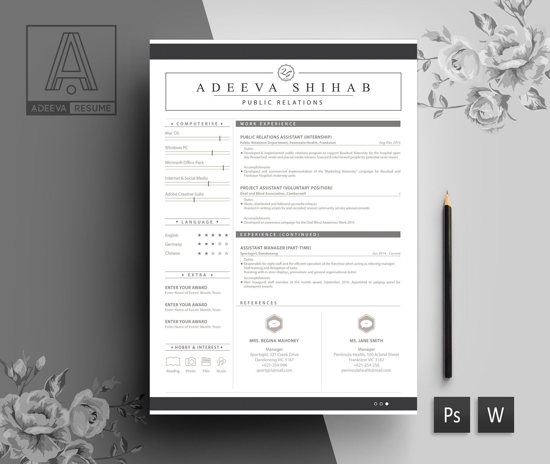 Modern Resume Template Shihab #instructions#editing ...