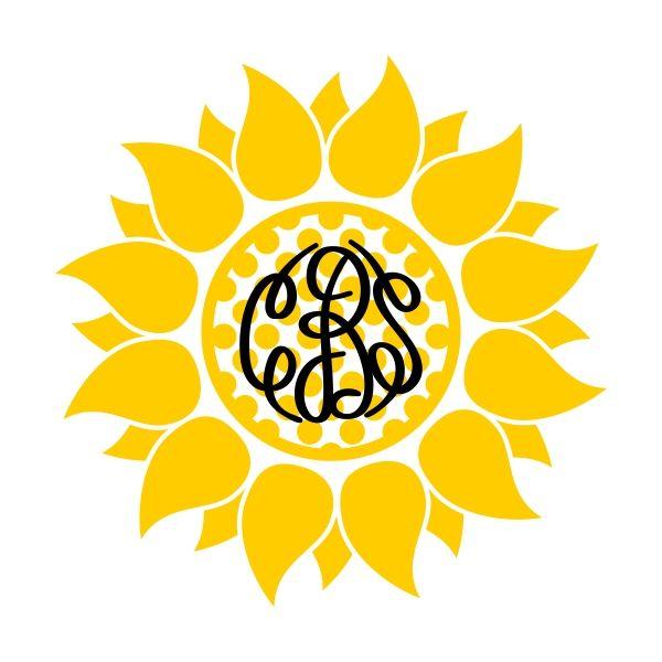 sunflower silhouette - Google Search   Cricut monogram ...