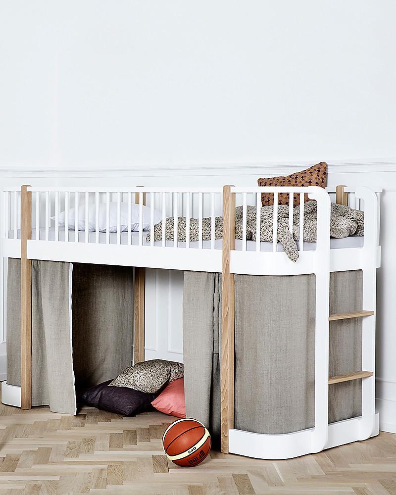 Letti A Castello Bassi.Oliver Furniture Letto A Soppalco Basso Linea Wood Quercia