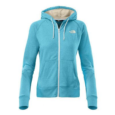 North Face Fave Full Zip Hoodie Womens A6S0-CMM Turquoise Blue Hoody Wmns Sz 2XL
