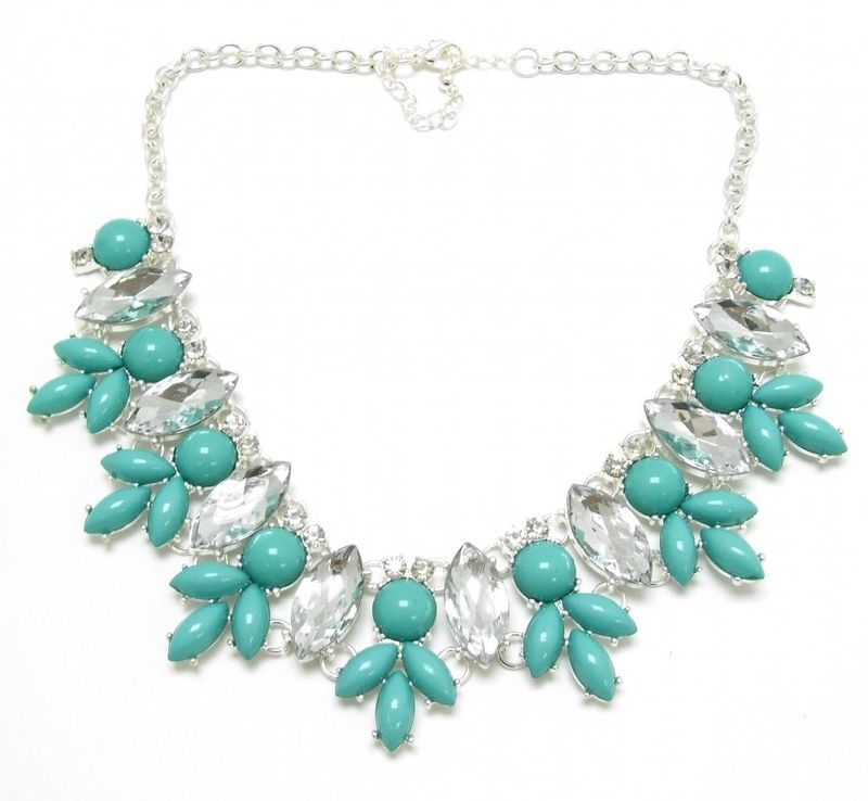 ♥ Gorgeous Turquoise Crystal Jewell Necklace/Collar £14