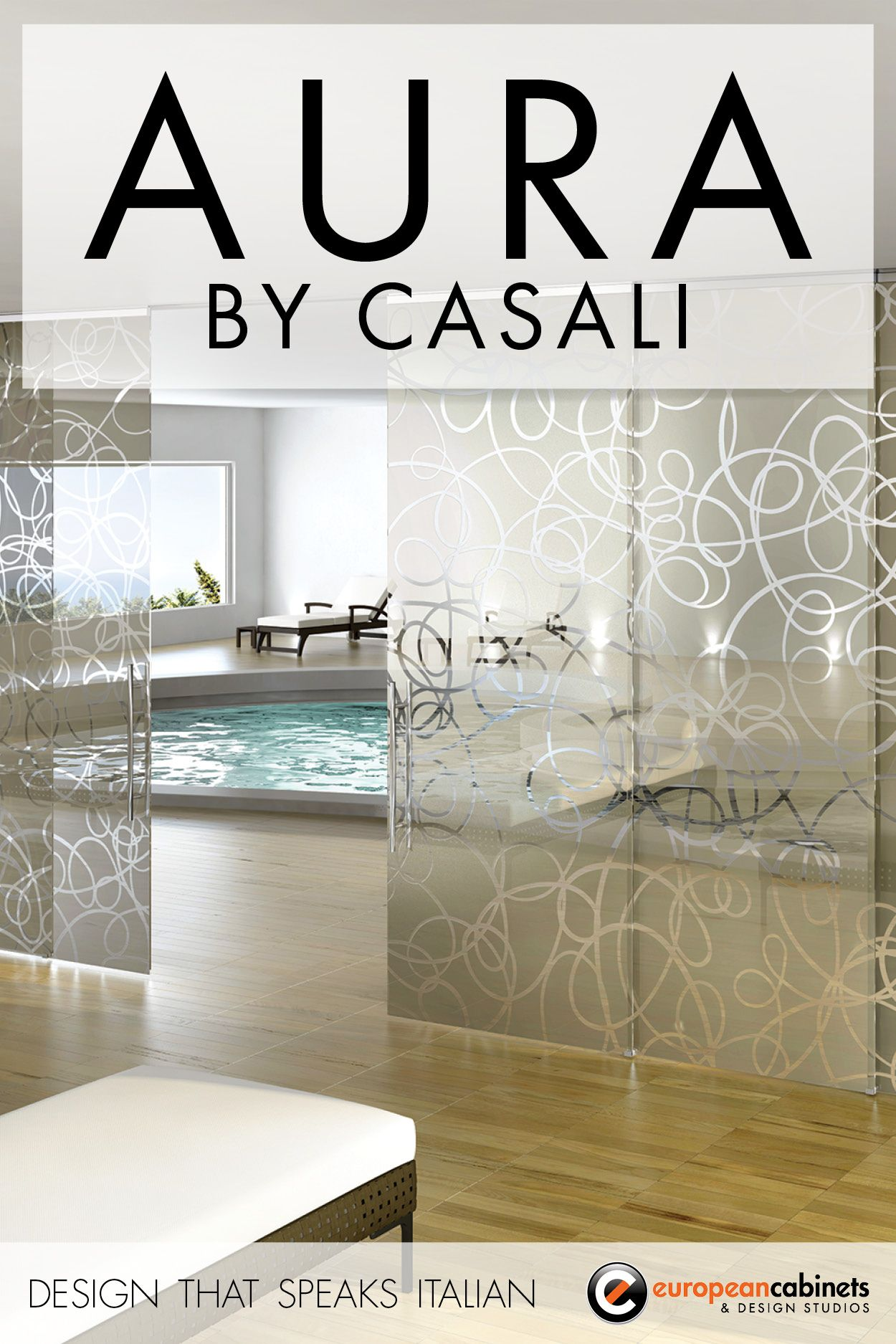 Aura sliding glass door by casali