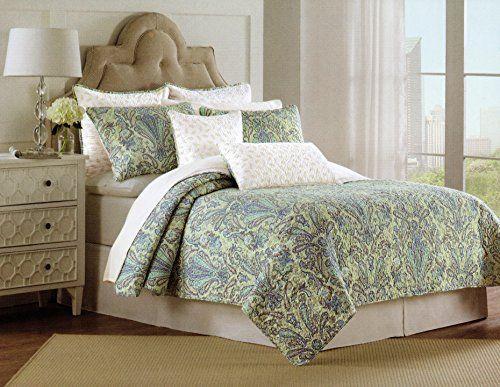 Nicole Miller Bedspread 3pcs King Cal King Quilt Set Reversible