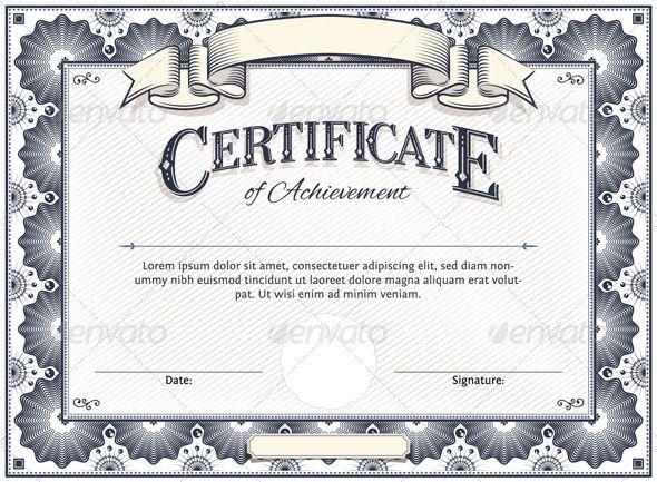 Vector Certificate Templates Certificate Design Template Certificate Of Achievement Template Blank Certificate Template