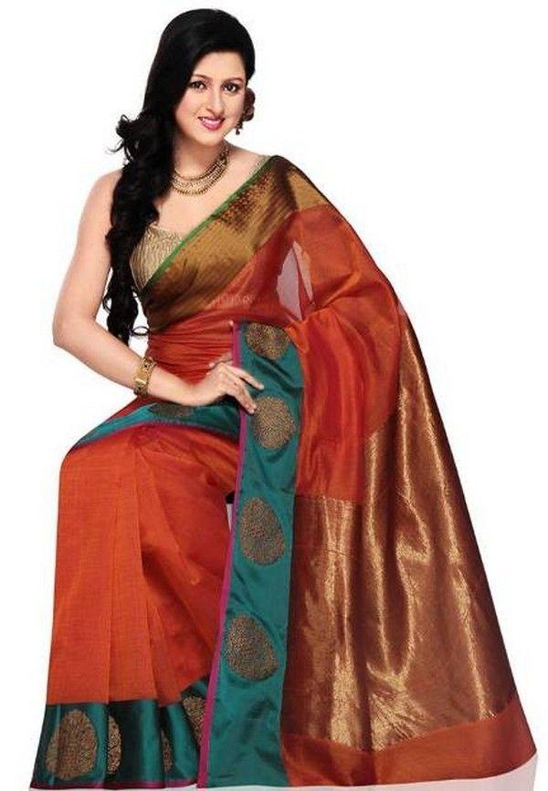 f5fdbbb8e3215a Indian Collection Cotton Silk Saree Designs By Cbazaar   Sarees ...