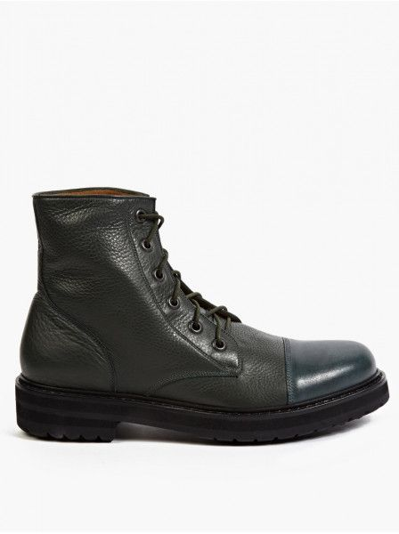 Marc Jacobs Green Leather Military-Style Boots in Blue for Men