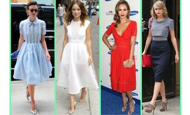 Learn from the stars how to look ravishing in a retro outfit