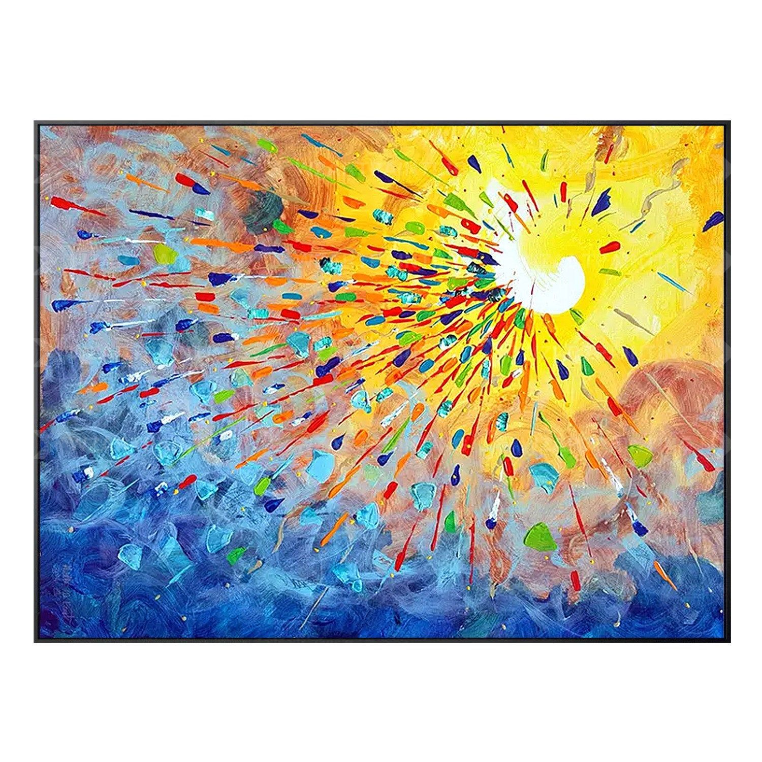 Framed Wall Art Yellow Blue Red Abstract Print On Canvas Painting Wall Art Pictures Art Framed Quadros Caudros Cuadros Abstractos Quadro With Images Wall Art Canvas Painting Wall Art Pictures Canvas