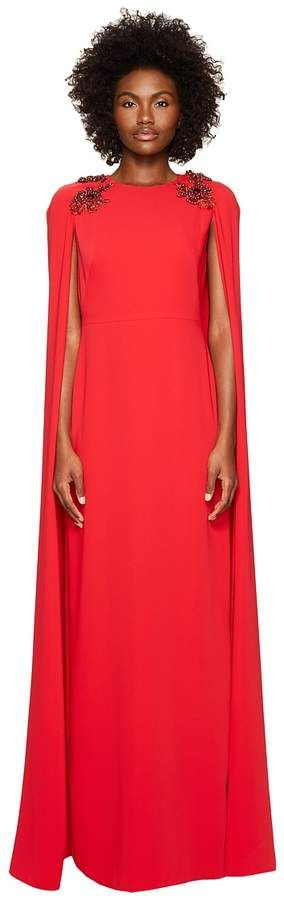 078e82ed30b Dresses. Marchesa Notte Stretch Crepe Cape Gown w  Beaded Shoulders Women s  Dress (Shopstyle
