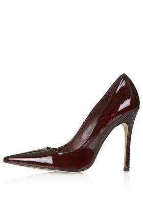 Topshop Burgundy patent heels