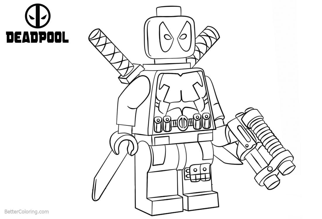 Lego Deadpool Coloring Pages Lego Deadpool Lego Marvel Marvel Coloring